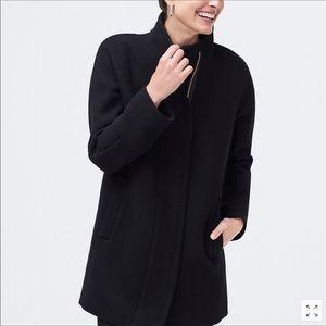 J. Crew Cocoon City Coat In Black Sz 22  NWT